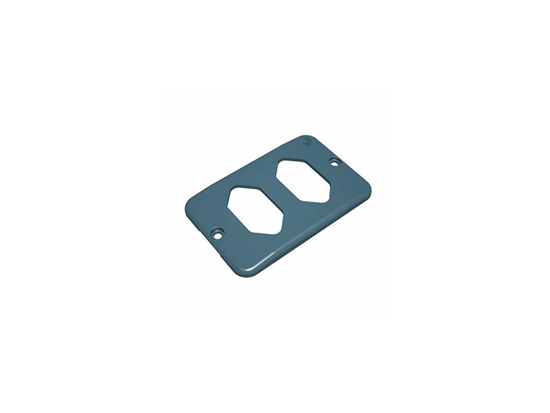 Condulete Top PVC Placa 2 Tomadas Horizontal