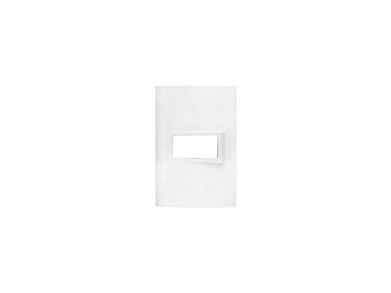 Placa 4x2 1 Módulo Branco Vivace