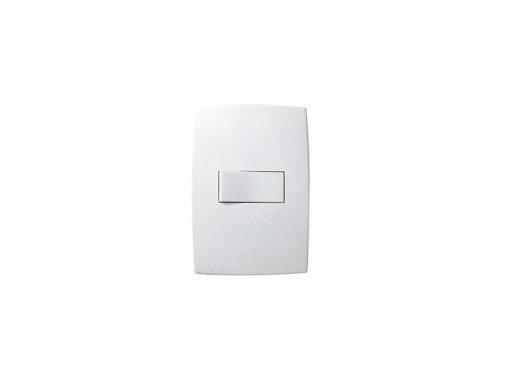 Interruptor Simples Horizontal C/Placa Pialplus