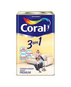 Tinta Coral 3 em 1